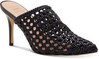 INC International Concepts Inc Women Celestia Woven Mules, Women Shoes