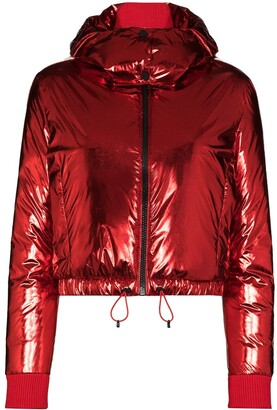 Perfect Moment Hooded Star-Print Padded Ski Jacket