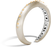 John Hardy Women's Dot 10MM Kick Cuff in Brushed Sterling Silver and 18K Gold