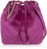 Velvet Couture Lancaster Paris Quilted Small Bucket Bag