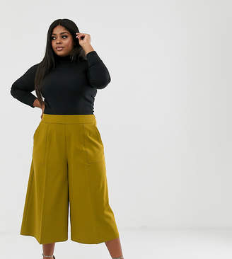 Asos DESIGN Curve tailored clean culottes-Green
