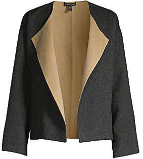 Eileen Fisher Women's Reversible Open-Front Coat
