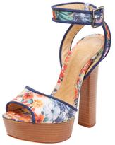 Schutz Printed Platform Sandal