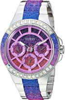 GUESS GUESS? Women's Quartz Stainless Steel Casual Watch, Color:Silver-Toned (Model: U0945L1)