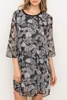 Mystree Floral Chiffon Dress