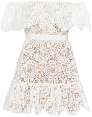 Self-Portrait Floral-lace minidress