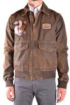 Aeronautica Militare Men's Brown Cotton Outerwear Jacket.
