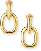 Kenneth Jay Lane Rectangle Door-Knocker Clip Earrings