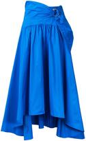 Peter Pilotto buckle detail pleated skirt - women - Cotton/Polyester - 12