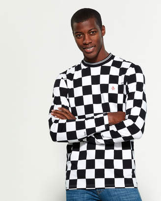 Original Penguin Chinatown Market X Checker Long Sleeve Tee