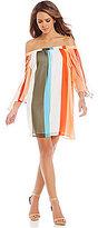 Gianni Bini Marcie Off-the-Shoulder Stripe Dress