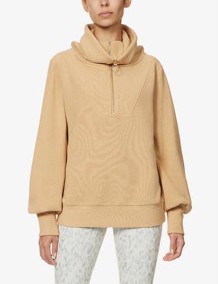 Varley Vine half-zip cotton-blend knitted jumper