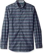 Perry Ellis Men's Longitude Plaid Shirt