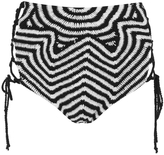 Mara Hoffman Women's Crochet Lace Up Side Bikini Bottoms Starbasket Crochet