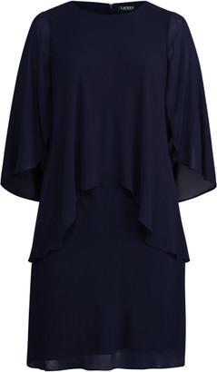 Ralph Lauren Layered Georgette Shift Dress