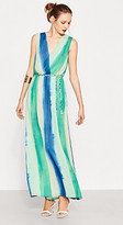 Esprit Flowing maxi dress with braided belt