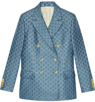 Gucci GG logo-print blazer