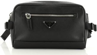 Prada Zip Waist Bag Saffiano Leather Small