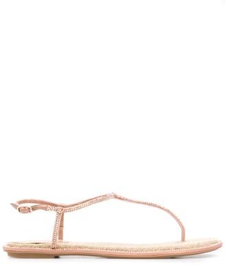 Rene Caovilla studded open-toe sandals