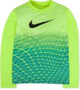 Nike Little Boys' Long-Sleeve Metric Face Graphic-Print T-Shirt