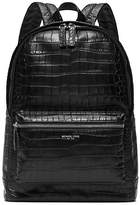 Michael Kors Bryant Embossed-Leather Backpack