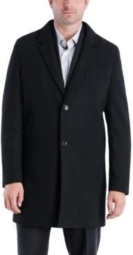 Michael Kors Men's Perry Classic-Fit Textured Twill Top Coat