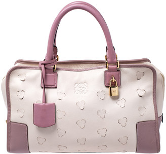 Loewe Cream/Pink Leather Limited Edition Amazona Satchel