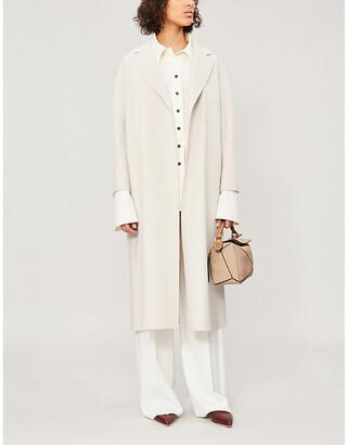 S Max Mara Ladies Black Esturia Wool Coat, Size: 4