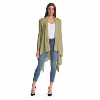 Skinnygirl Women's Dream Waterfall Cardigan with Sharkbite Hem