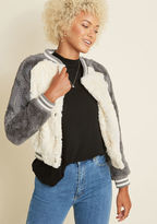 BB Dakota All Fuzz and Games Faux-Fur Jacket in M