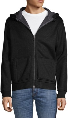 Hickey Freeman Faux Fur-Lined Textured Hoodie