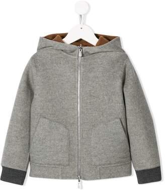 Brunello Cucinelli Kids zip-up cashmere hoodie