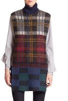 Suno Sleeveless Plaid Mohair Tunic