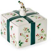 Pfaltzgraff Winterberry Snowman Treat Jar
