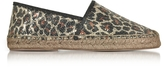 Marc Jacobs Sienna Gold & Multicolor Animal Print Espadrilles