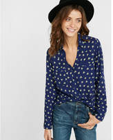 Express Original Fit Bee Print Portofino Shirt