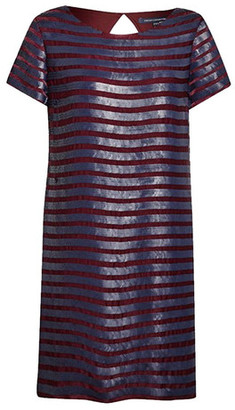 French Connection Satelite Sequins Dress - 8 / Dark Morello - Purple