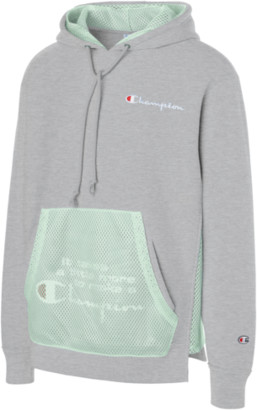 Champion Shift Hoodie Sweatshirt - Grey / Green