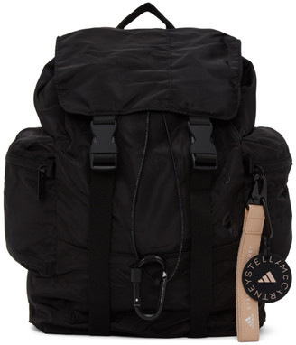adidas by Stella McCartney Black Satin Backpack