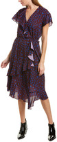 Parker Wrap Front Midi Dress