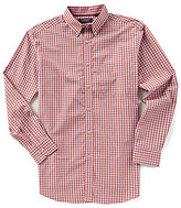 Roundtree & Yorke Trademark Big & Tall Long-Sleeve Plaid Sportshirt