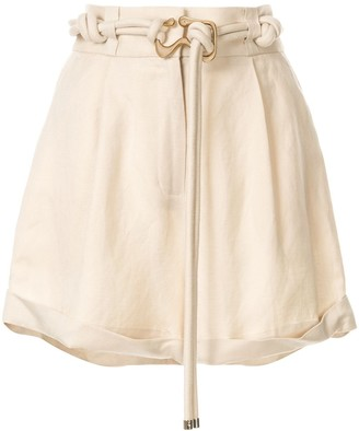 Acler Knotted Belt Shorts