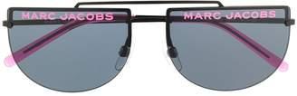 Marc Jacobs Eyewear logo rimless rounded sunglasses