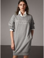 Burberry Embroidered Motif Cotton Jersey Sweatshirt Dress