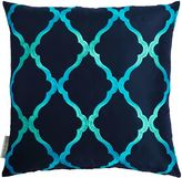 Matthew Williamson Navy Jali Trellis Cushion