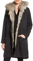 Cupcakes And Cashmere Augusta Faux Fur Trim Parka