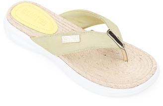 Kenneth Cole Reaction Women's Sandals LEMON - Lemon Zest Ready Thong Sandal - Women