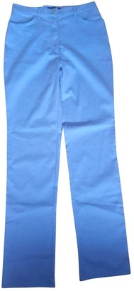 Cerruti Blue Cotton - elasthane Jeans for Women Vintage