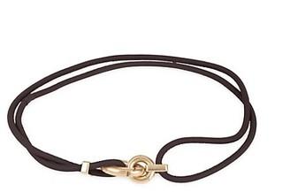 Bottega Veneta Carabineer Buckle Leather Cord Wrap Belt