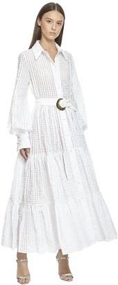 Taller Marmo Maxi Shirt Dress W/ Belt